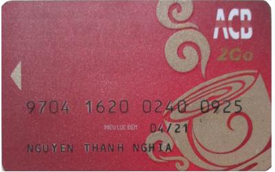 Thẻ tài khoản ngân hàng ACB